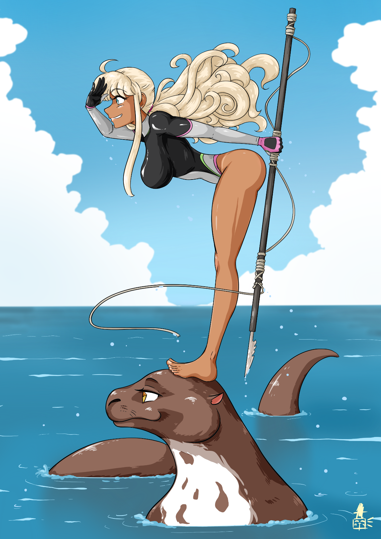 A Girl and Her Otter