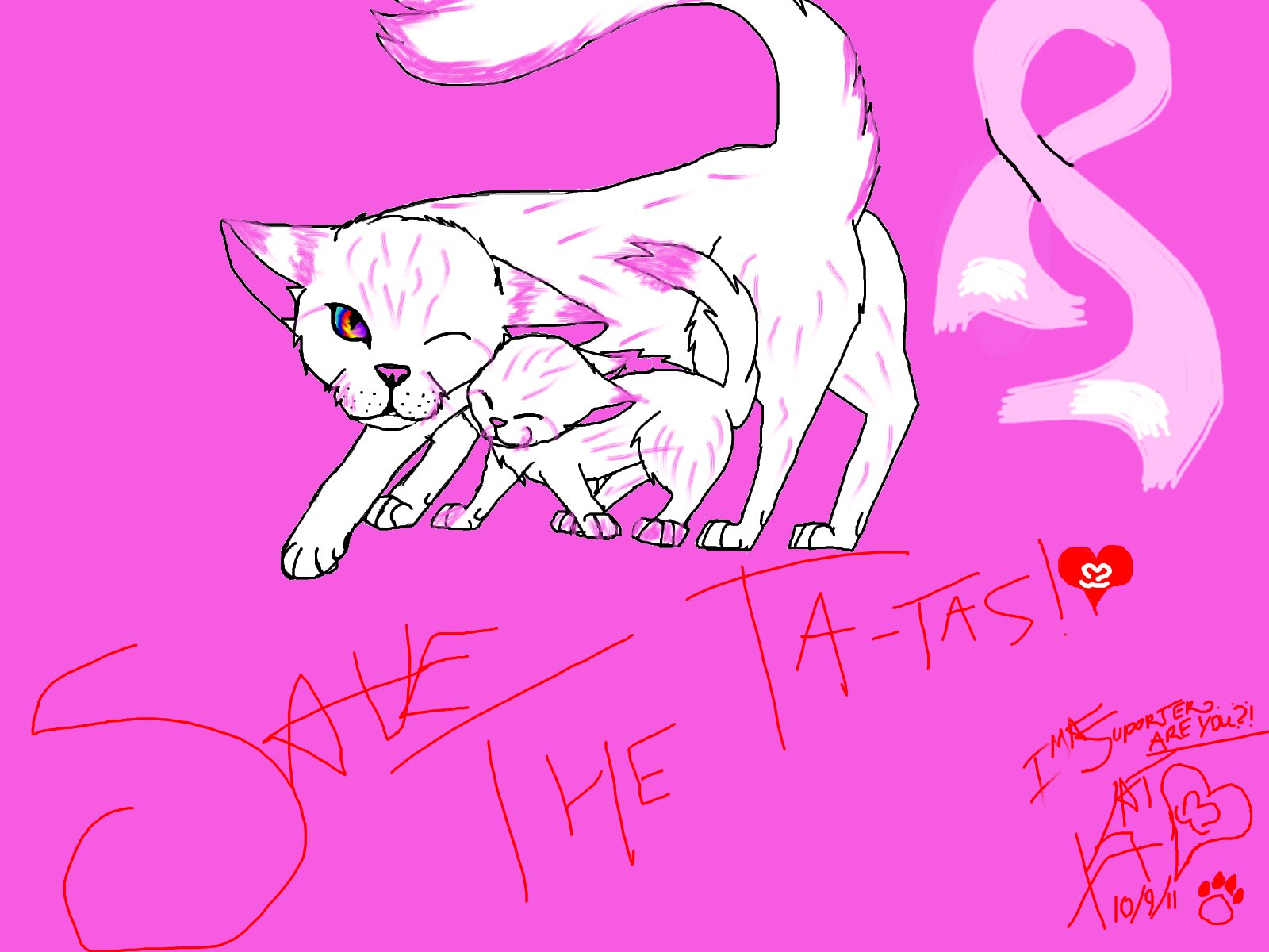 Kittys for breast cancer