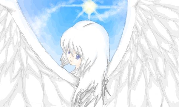 flight in the blue sky