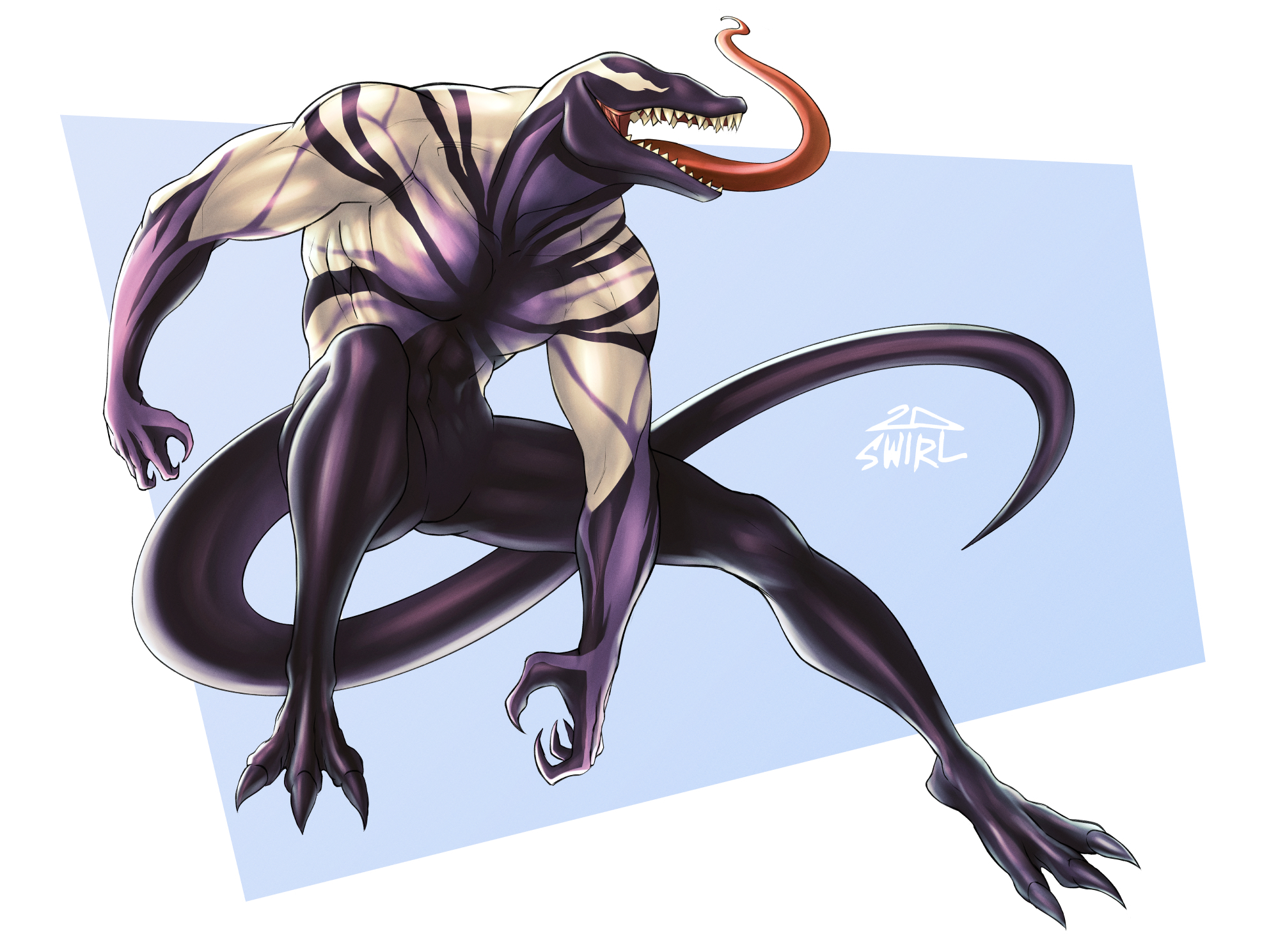 Symbiote lizard OC [Commission]
