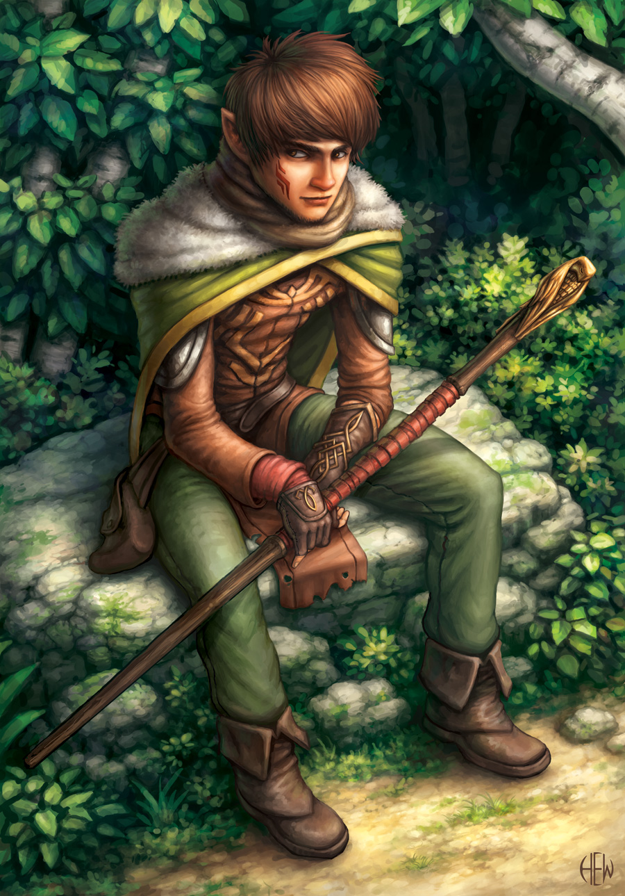 Masen, Half-Elf Wizard