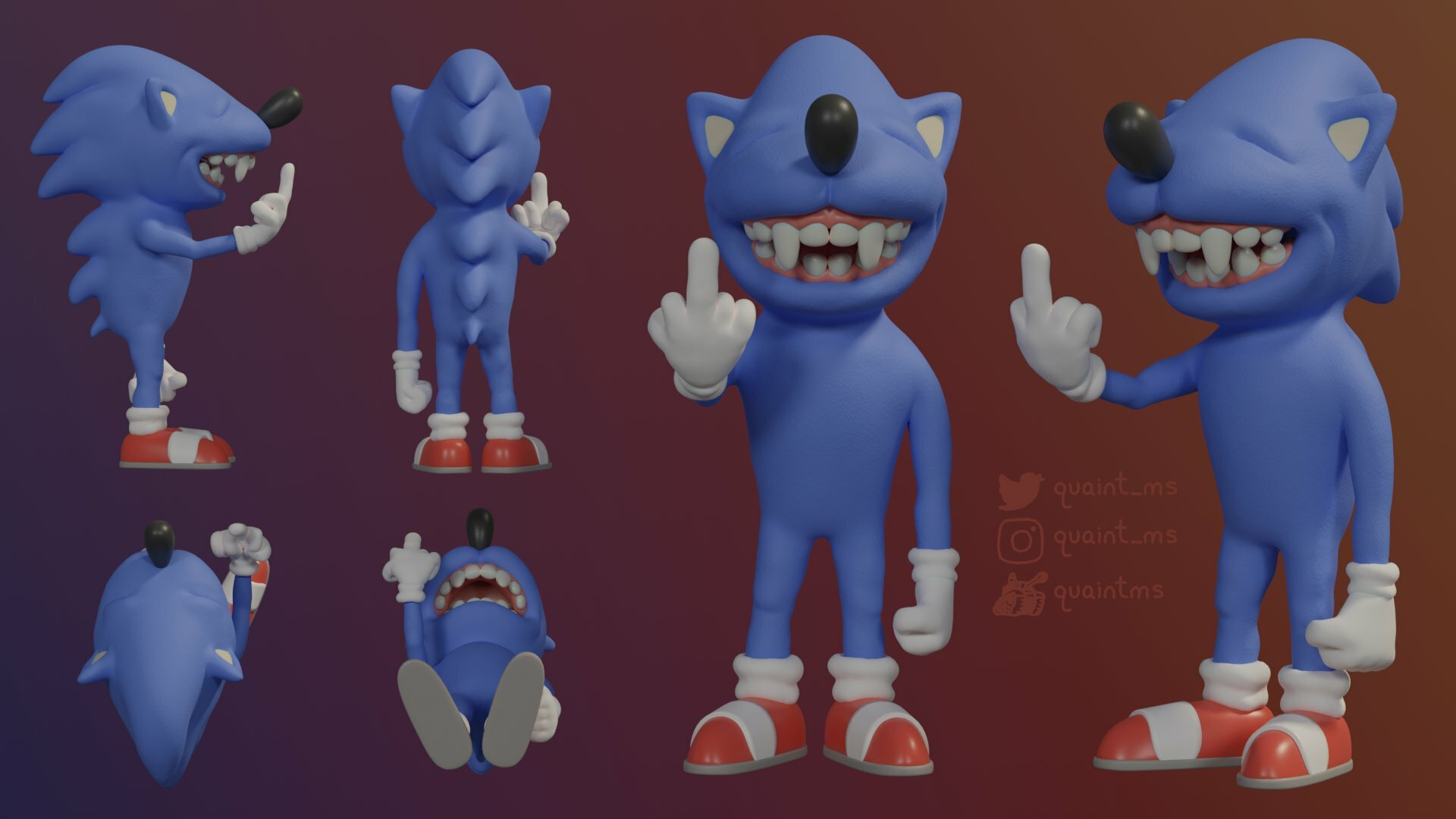 Sonic Flicking Someone Off