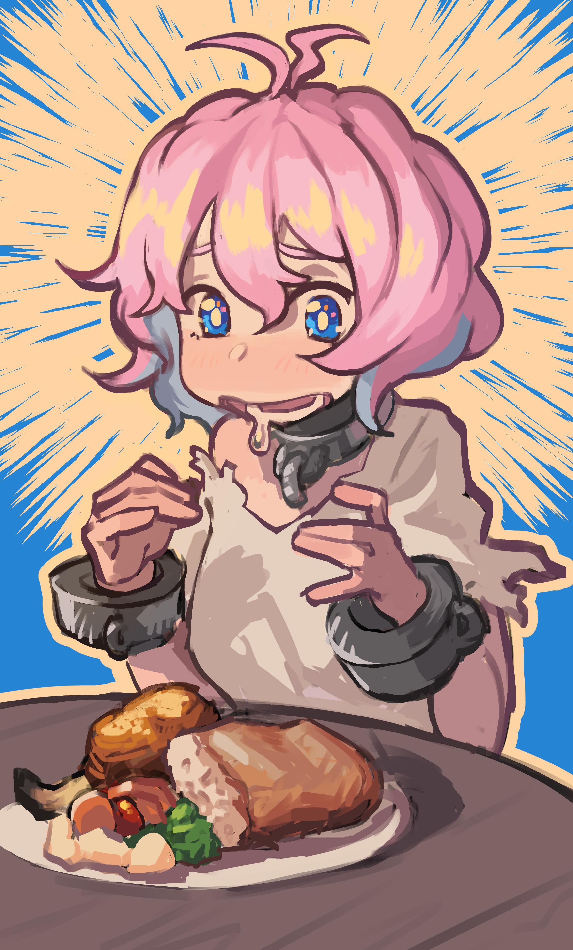 Hobo getting food