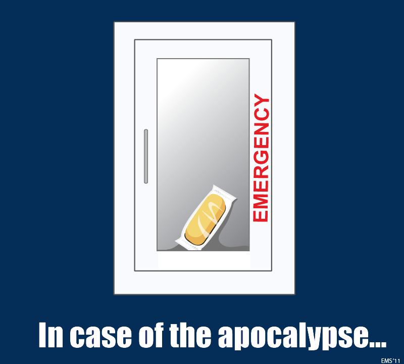 In case of zombie apocalypse