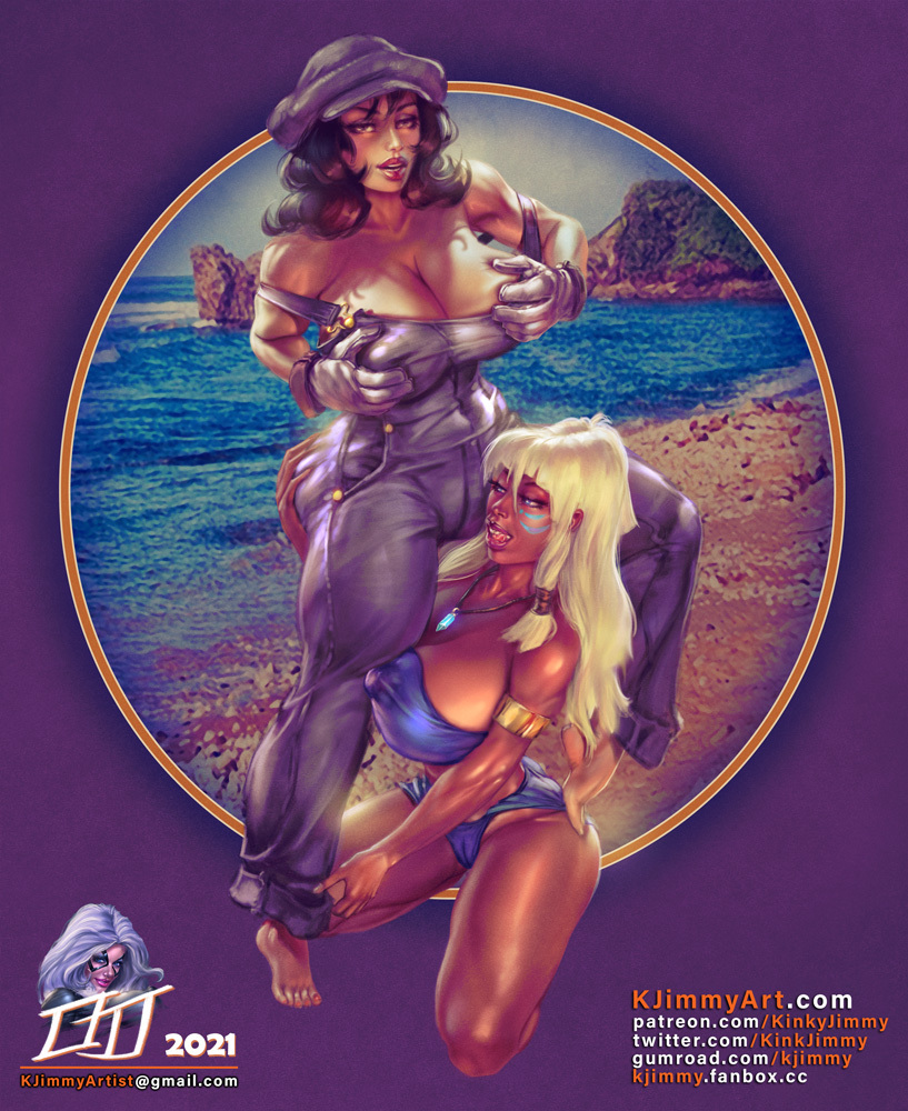 Audrey and Kida (Atlantis)