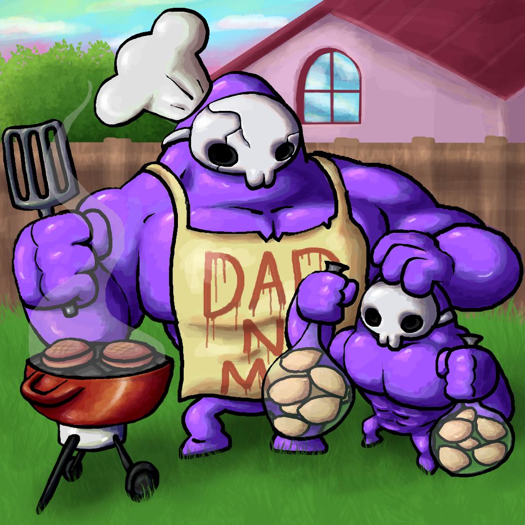 Dad N Me Grilling