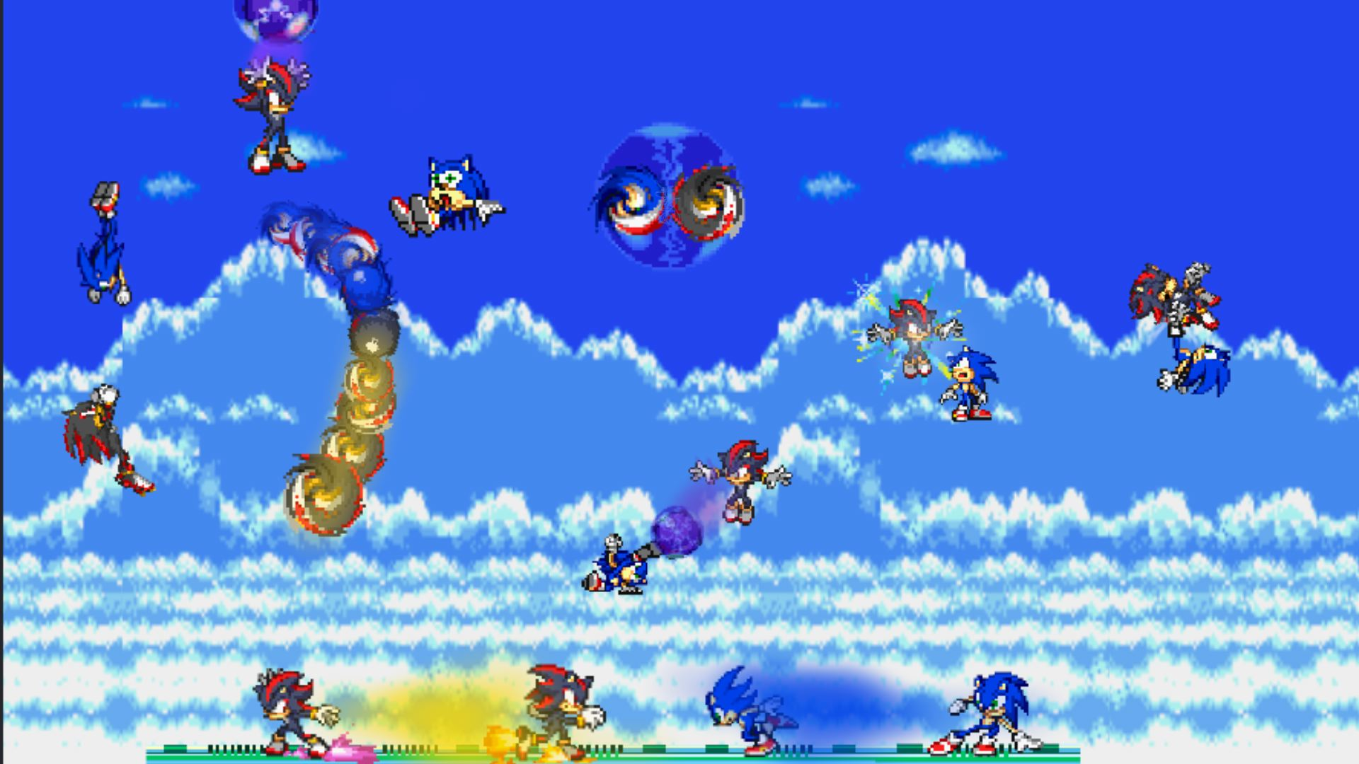sonic and shadow sky battle