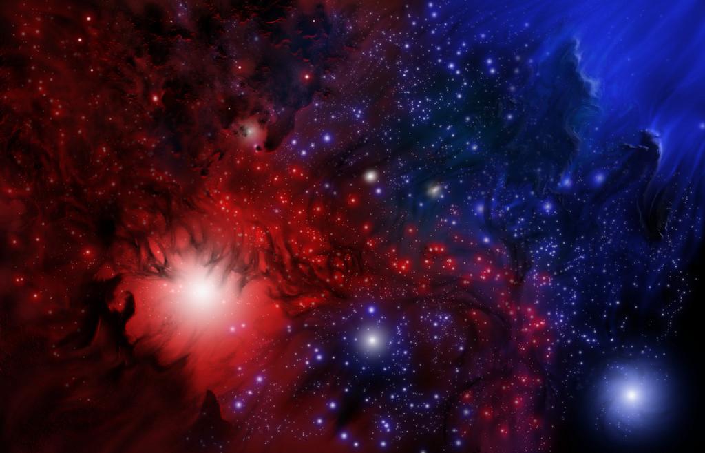 Red vs Blue Nebula