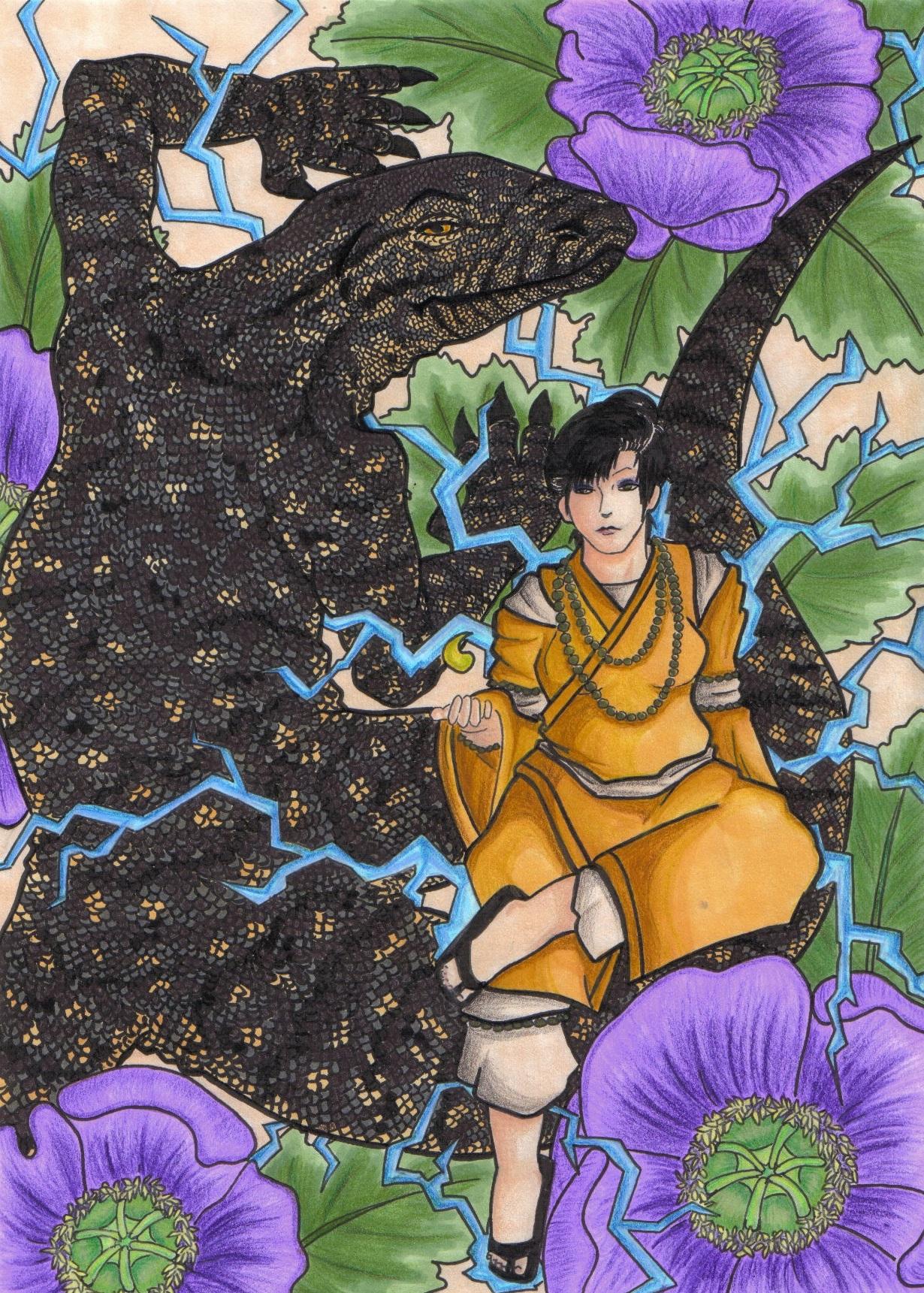 Izanami and Monitor Lizard