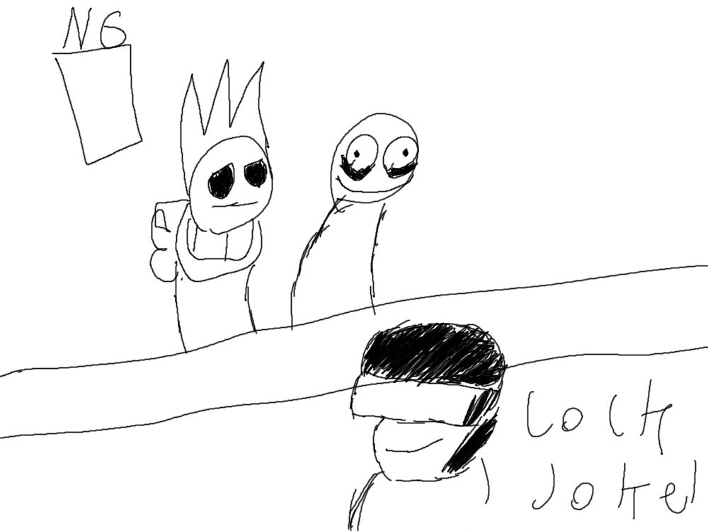 Tankman, Tom and Salad Fingers walk into a bar