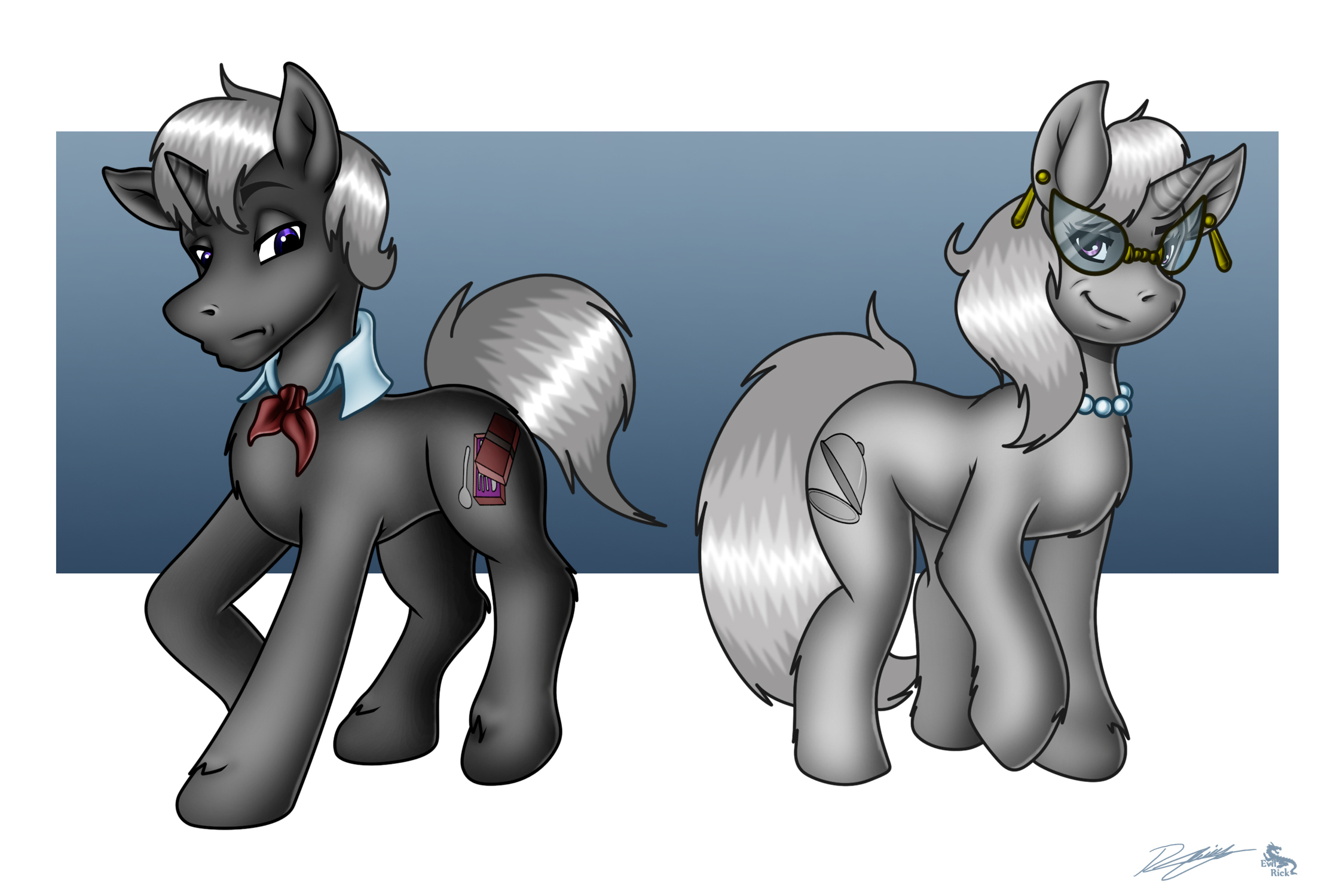 Commission_High Society Ponies