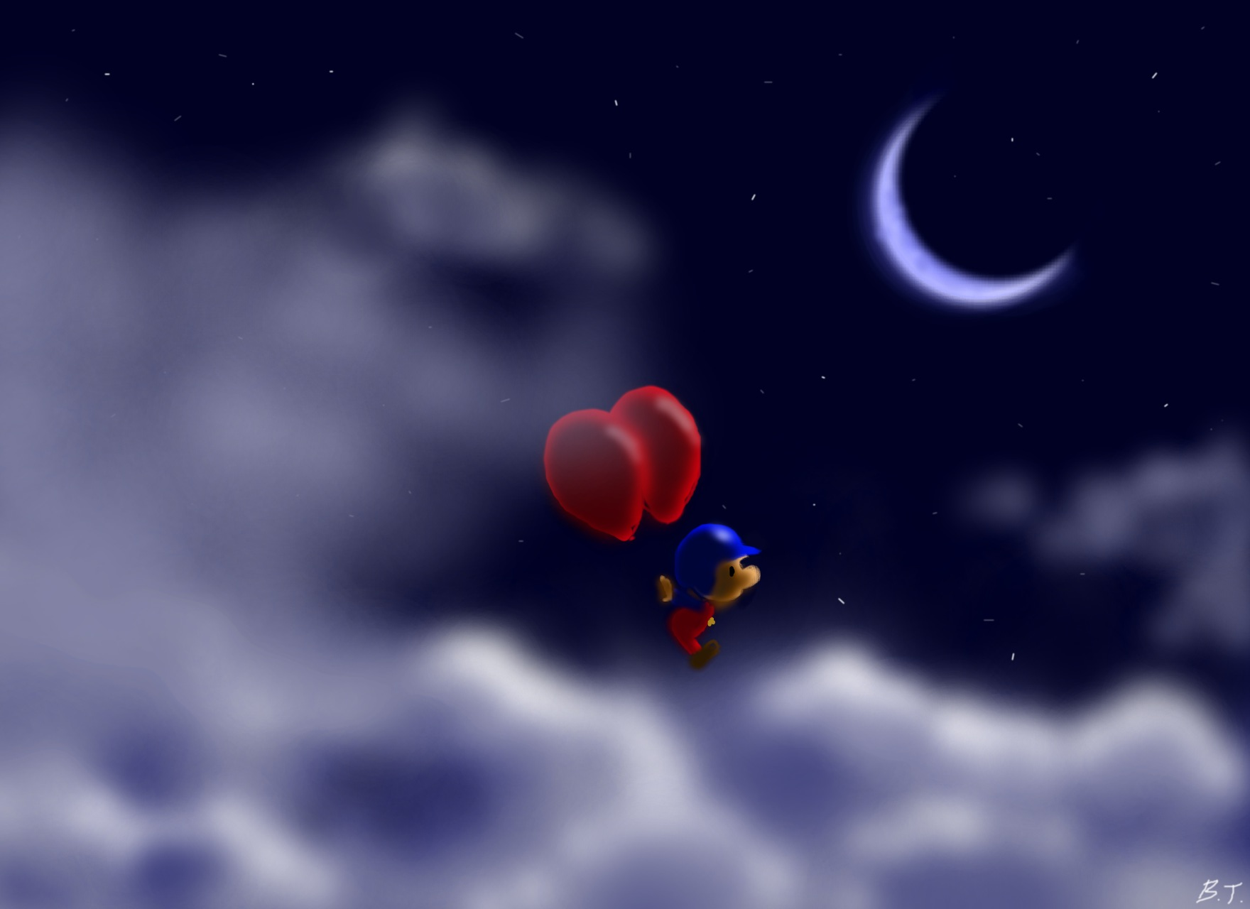Balloon Fight Above The Clouds