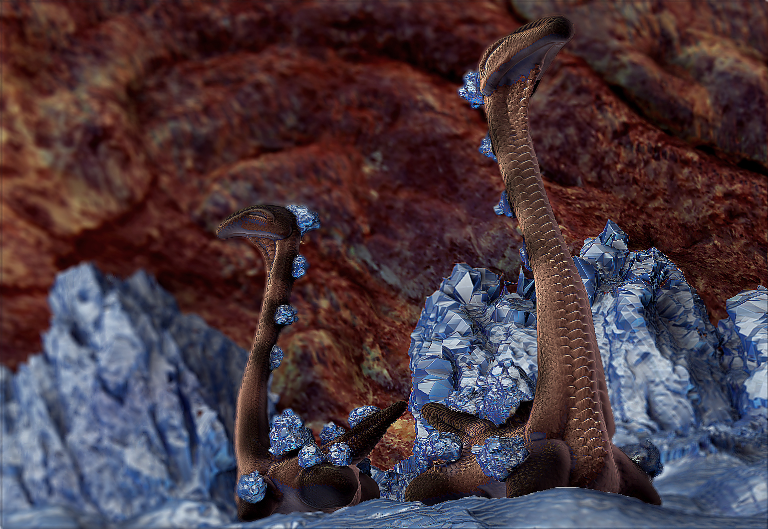 Crystal Cave Dweller: render 1