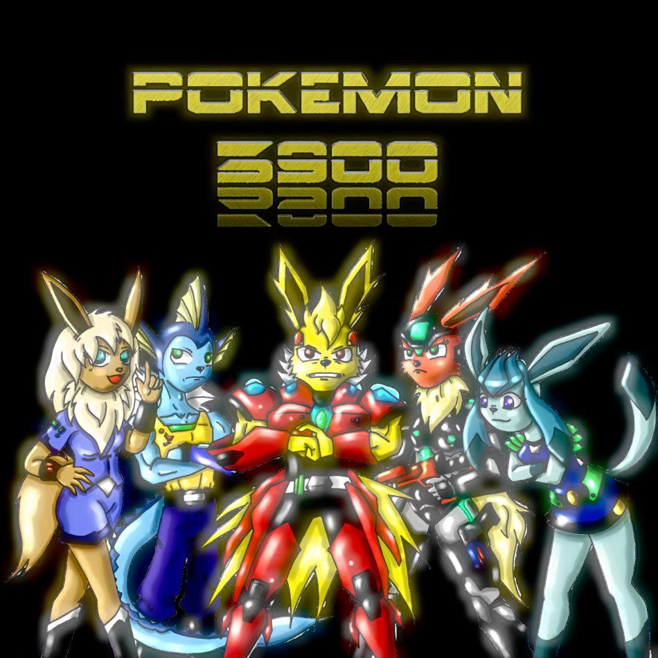 Mega Eevees. (Pokemon 3900)