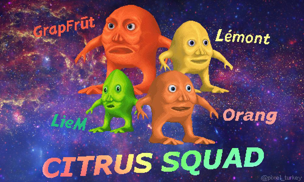 pixel citrus squad 🍊🍋💪 (500x300)