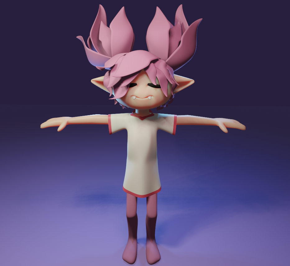First 3D character in Blender