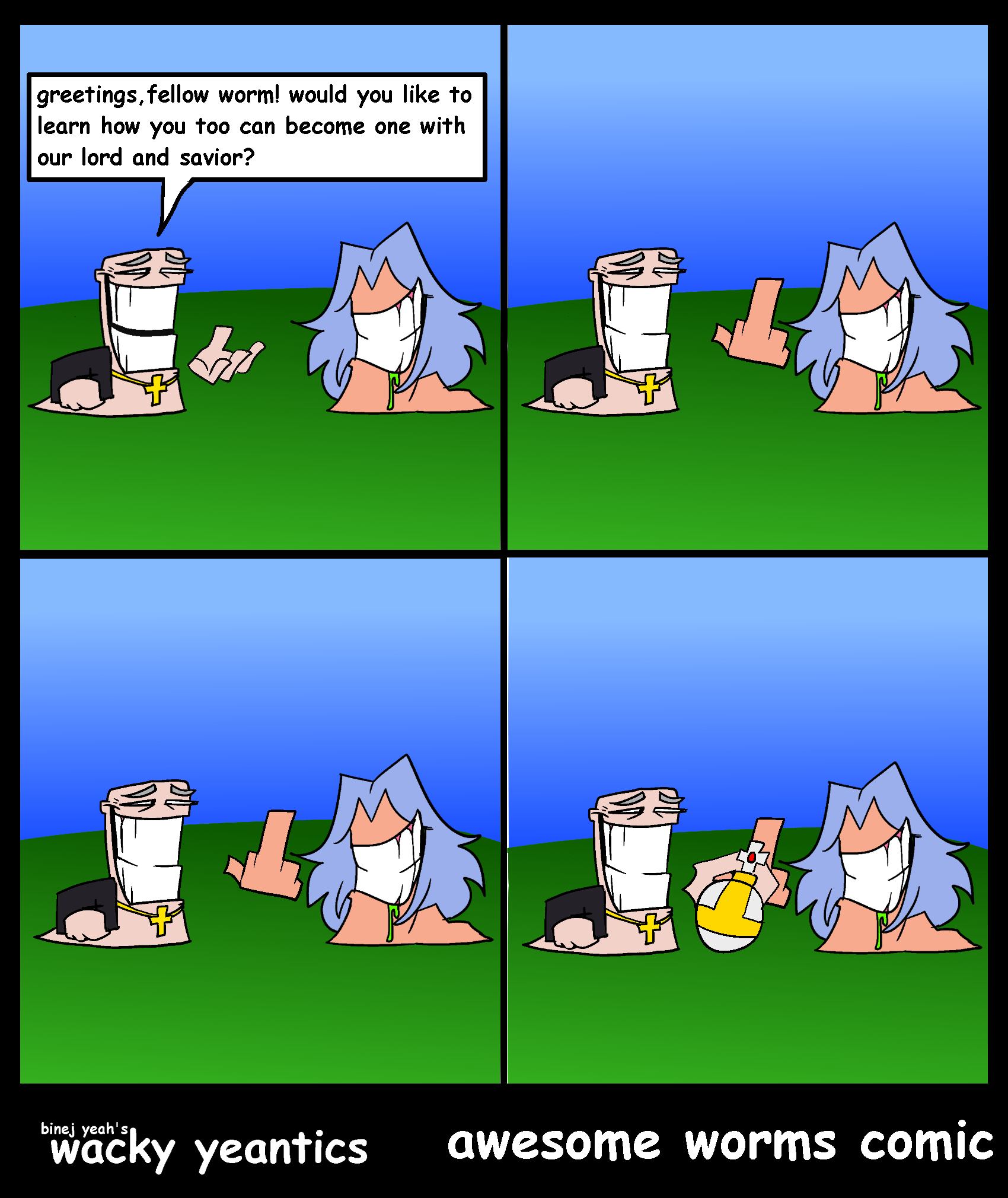 awesome worms comic