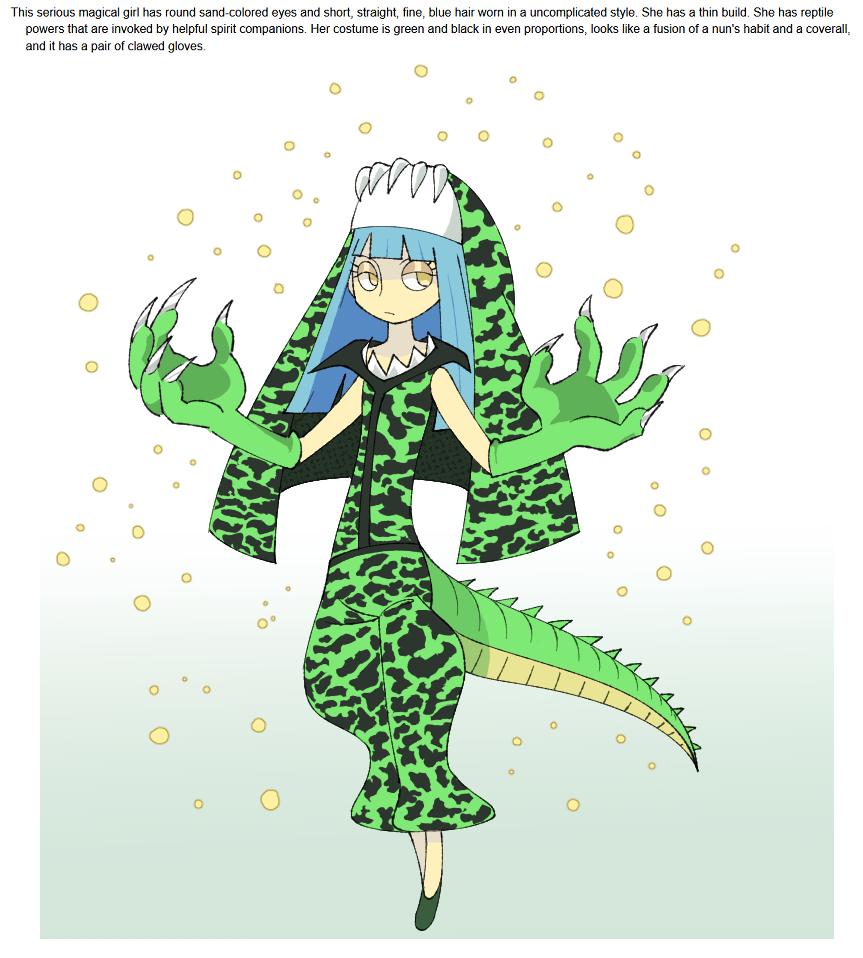 Crocodile Magical Girl Prompt