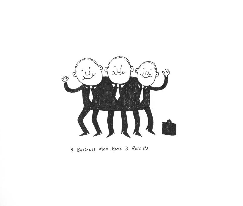 3 Business Men Have 3 Penis's
