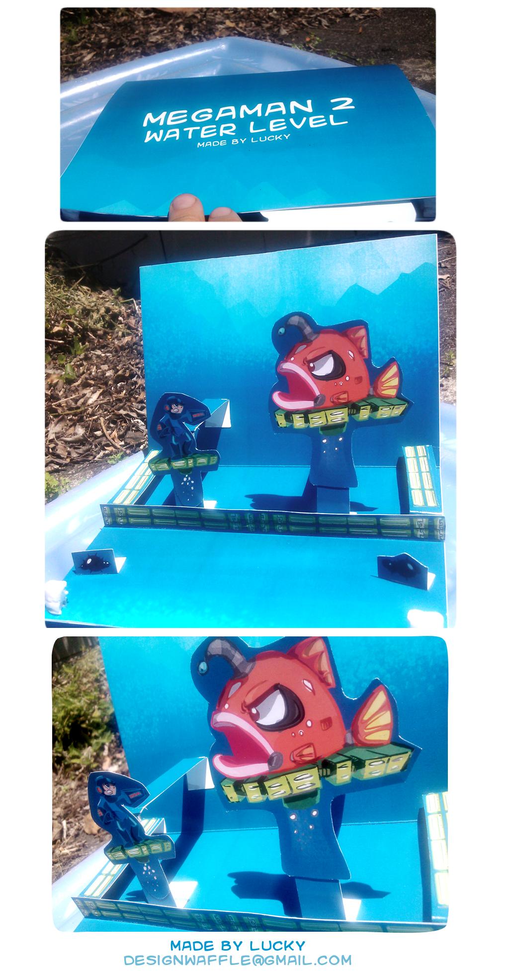 Megaman 2 Popup Card