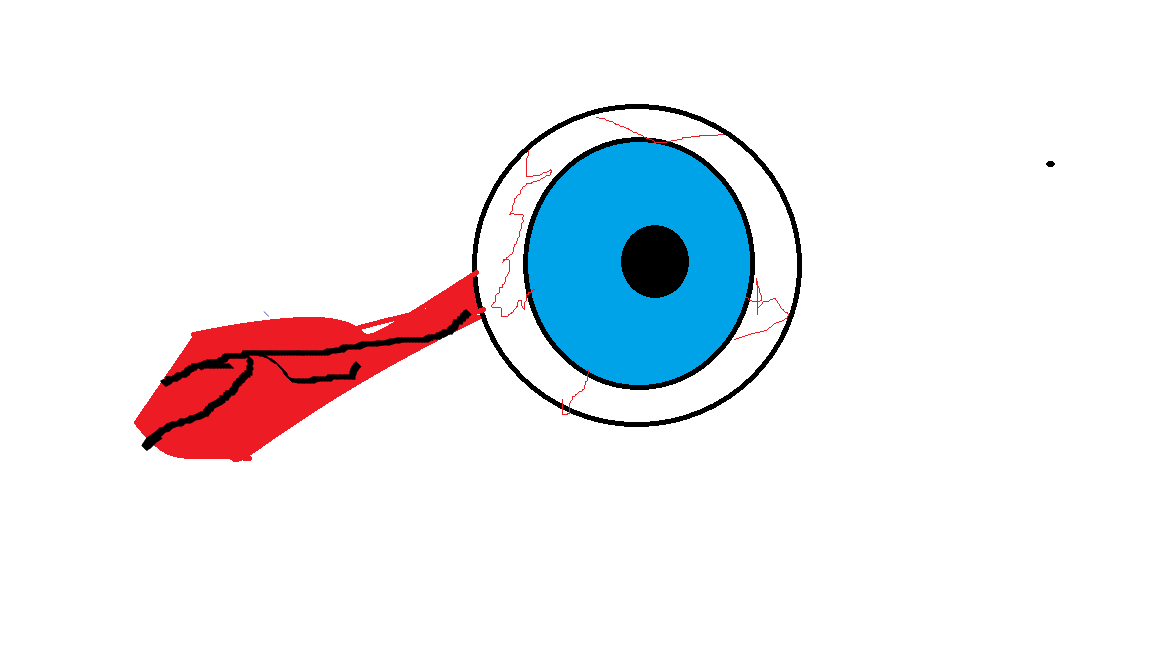 single eye (made with in paint, first art :D)