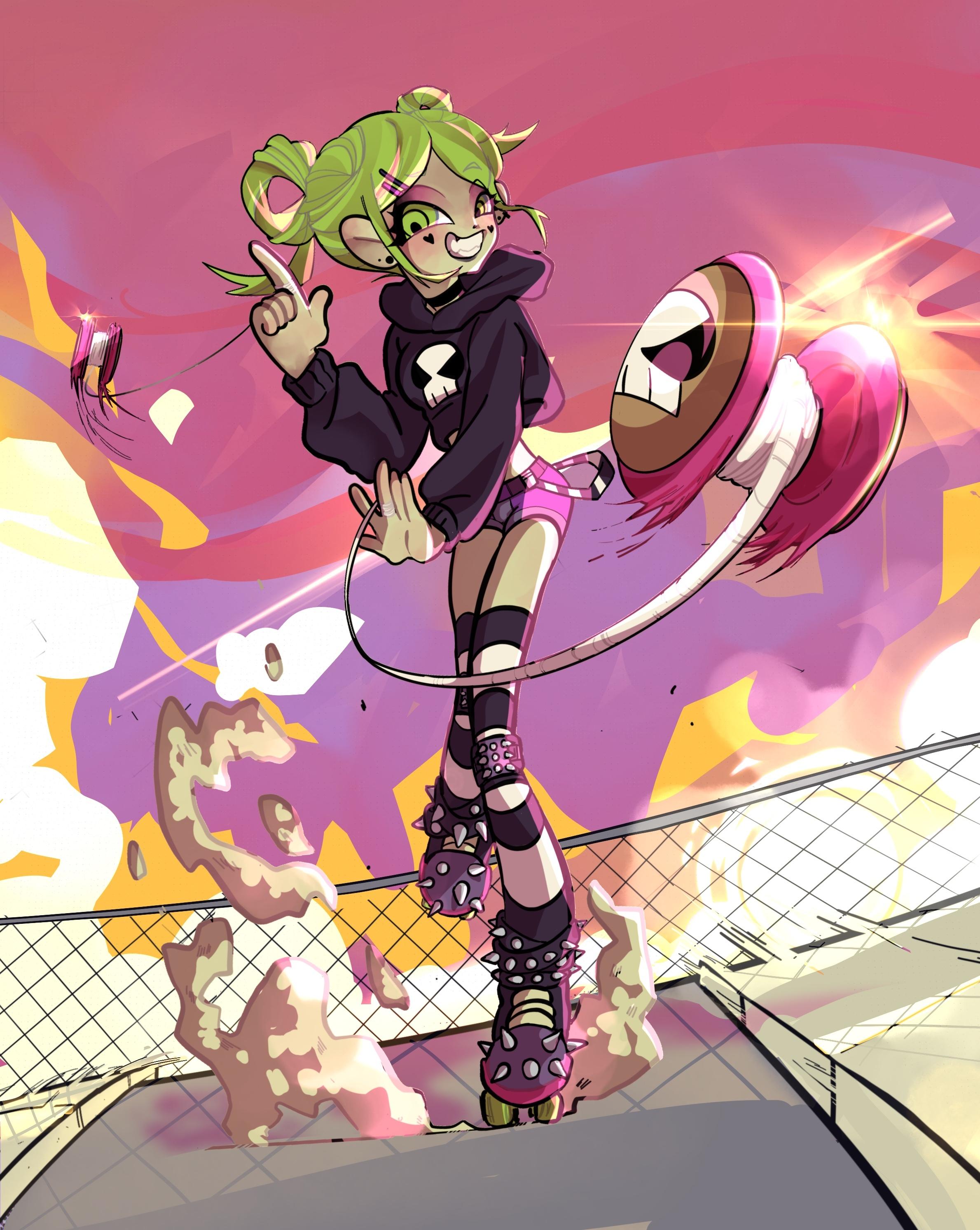 Roller girl go vrooooommm