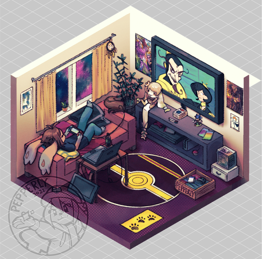 Isometric Room Collab Entry