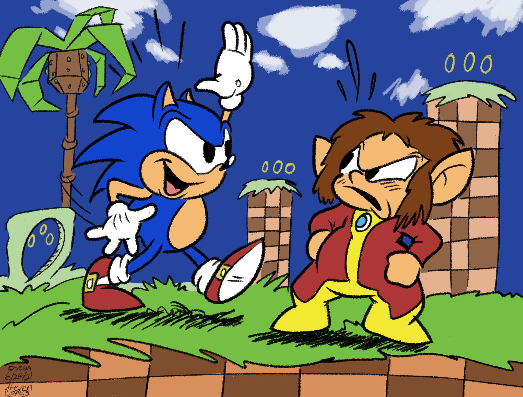 Sonic Meets Alex Kidd