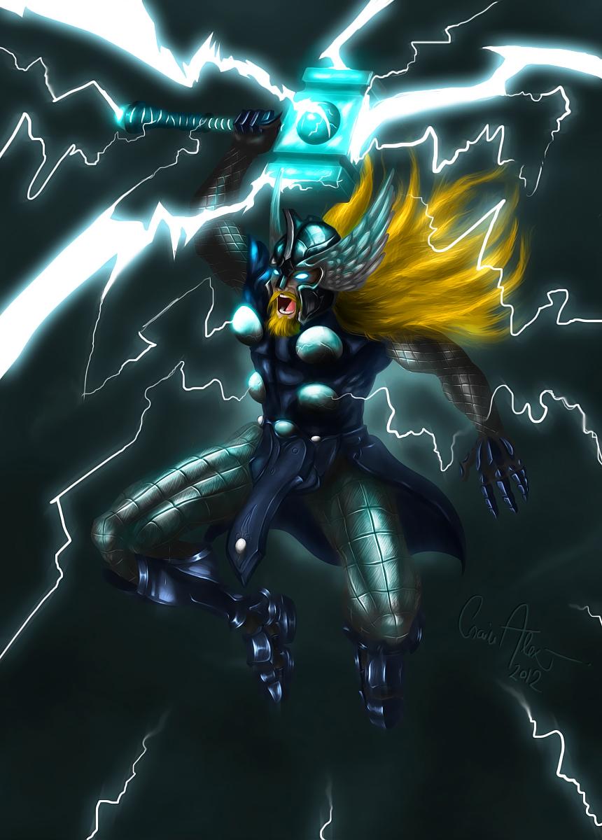 The God of Thunder by TheFishyOne on Newgrounds
