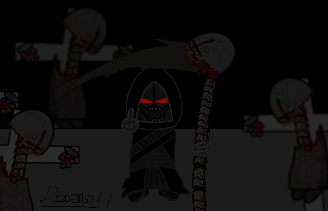the Death with scythe