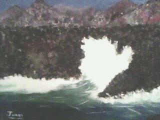 Waves in El Hierro island