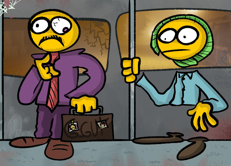 two guys in a metrô