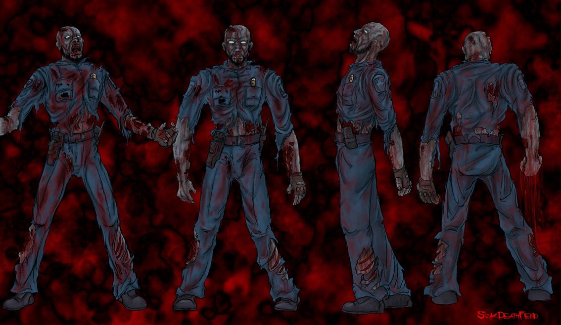 Zombie Panic concept zombiecop