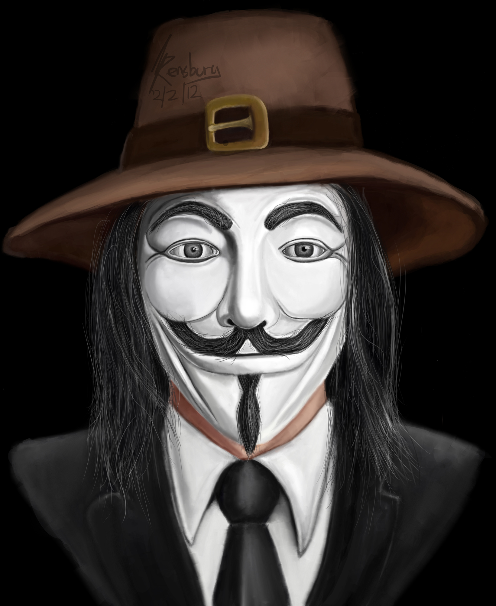 guy fawkes meets anonymous