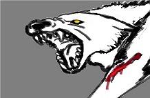 injured wolf