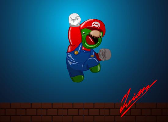My Credit Score >> Fat Alien Mario by Iviqrr on Newgrounds