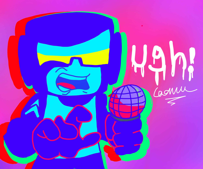 Neon tankman