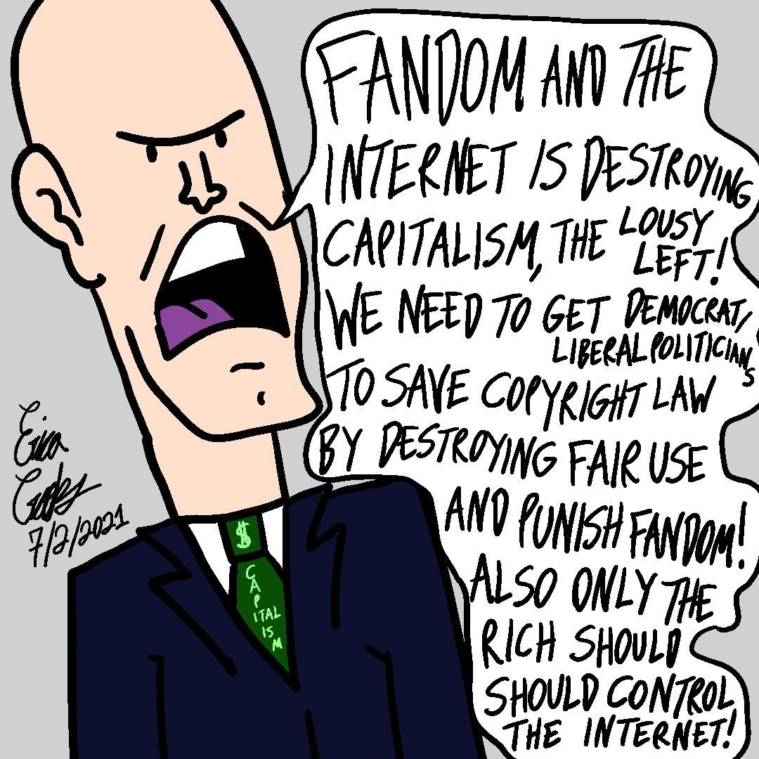 Erica Crooks Comics 2021 - Internet Copyright Capitalist vs Fandom