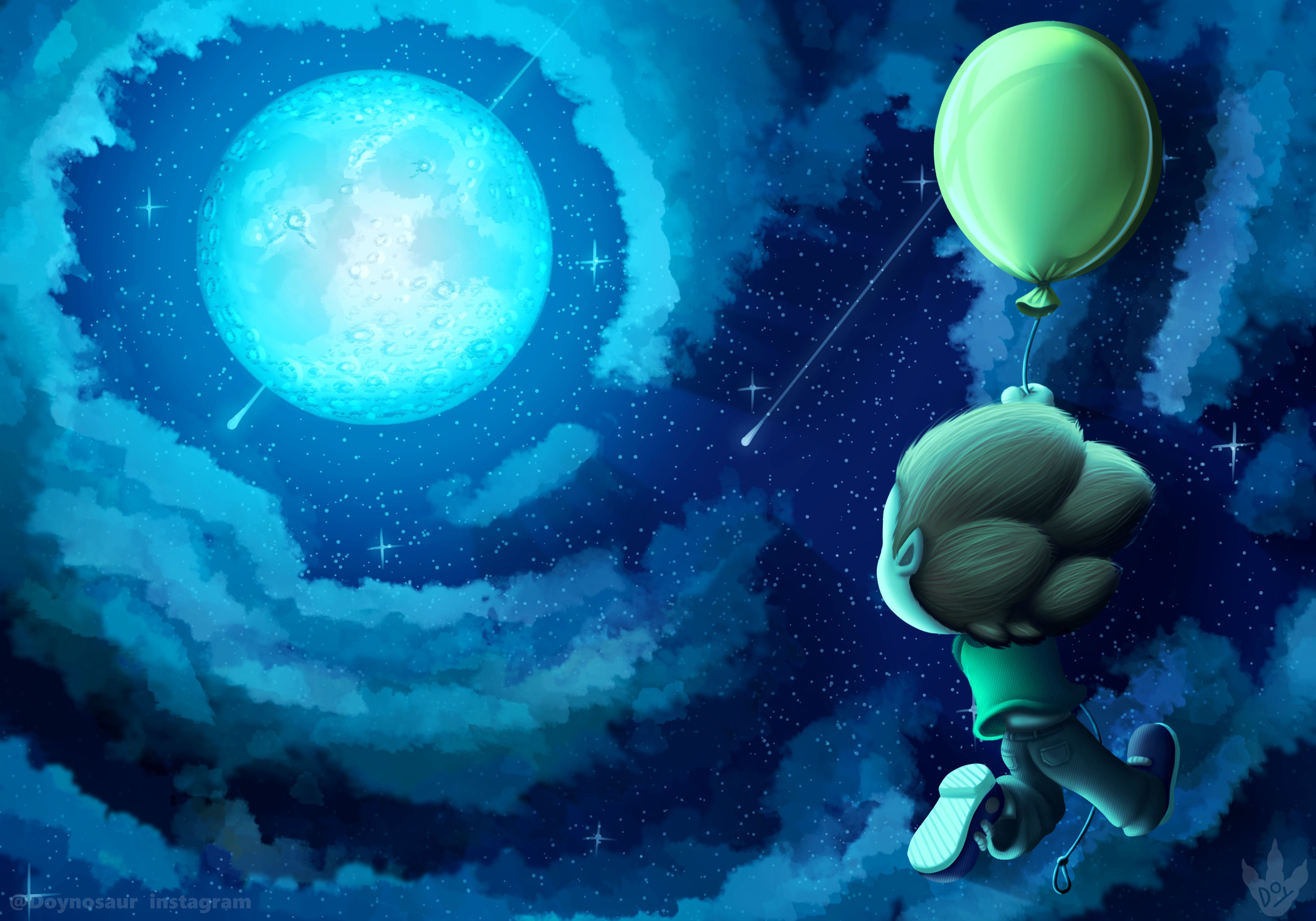 The boy that wanted to fly to the moon