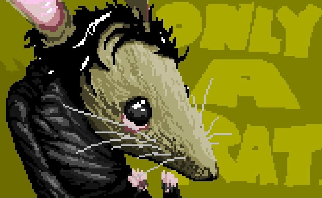 rat faced.