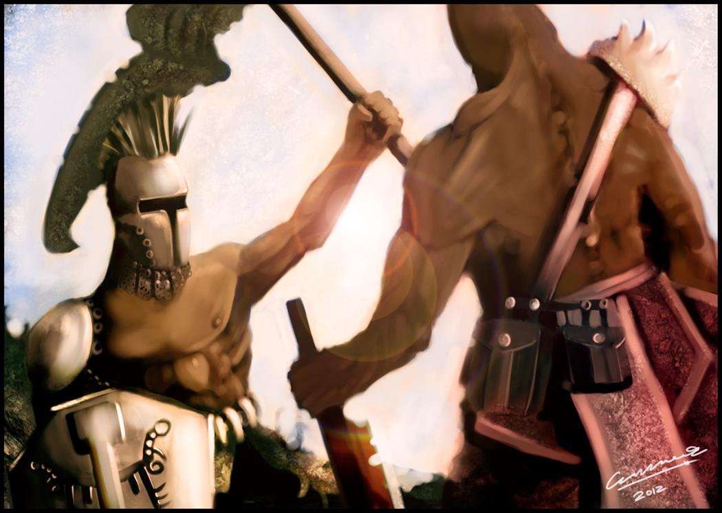 Meeting of warriors