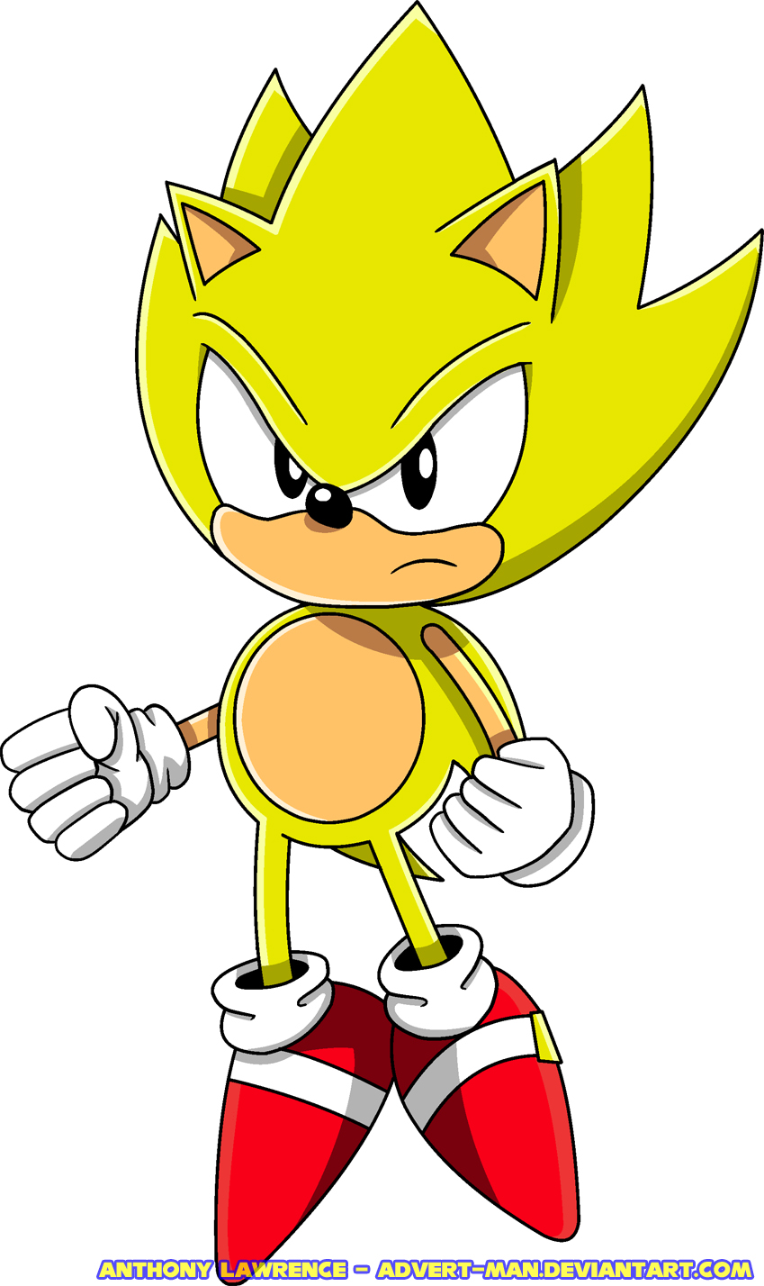 Classic Super Sonic By Advertman On Newgrounds