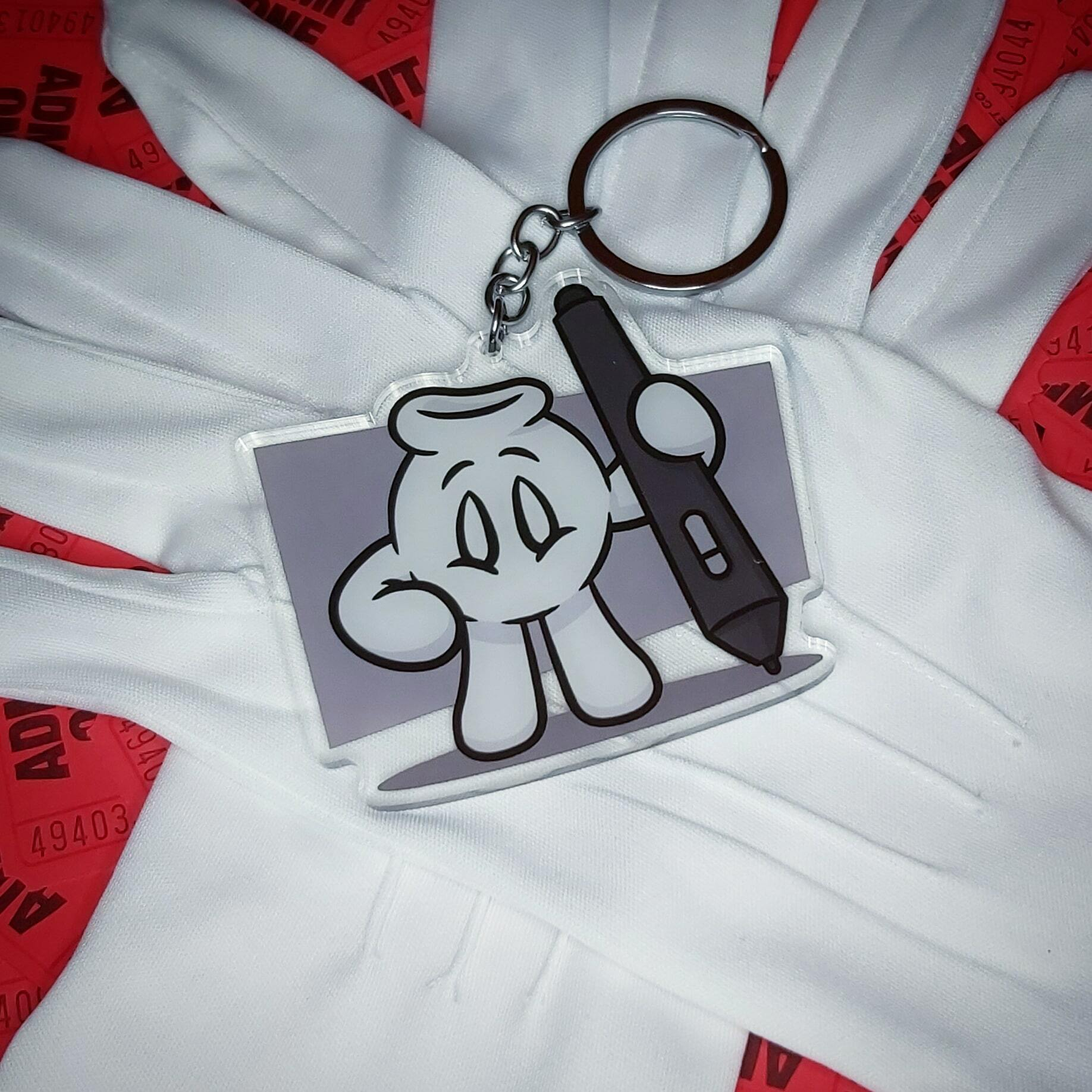 Toon Glove with Tablet Pen Keychains!