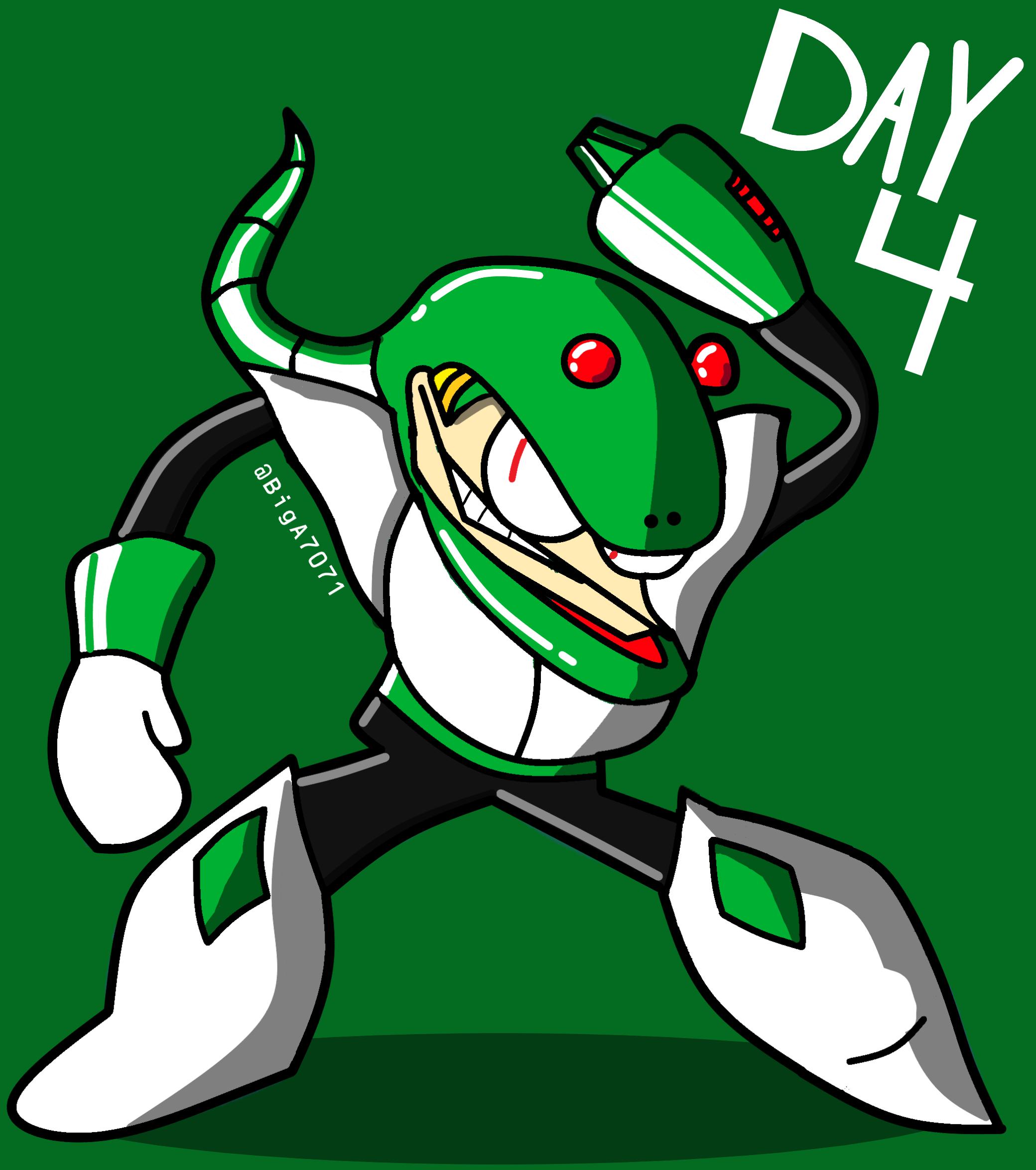 MegaMonth- Day 4: Snake Man