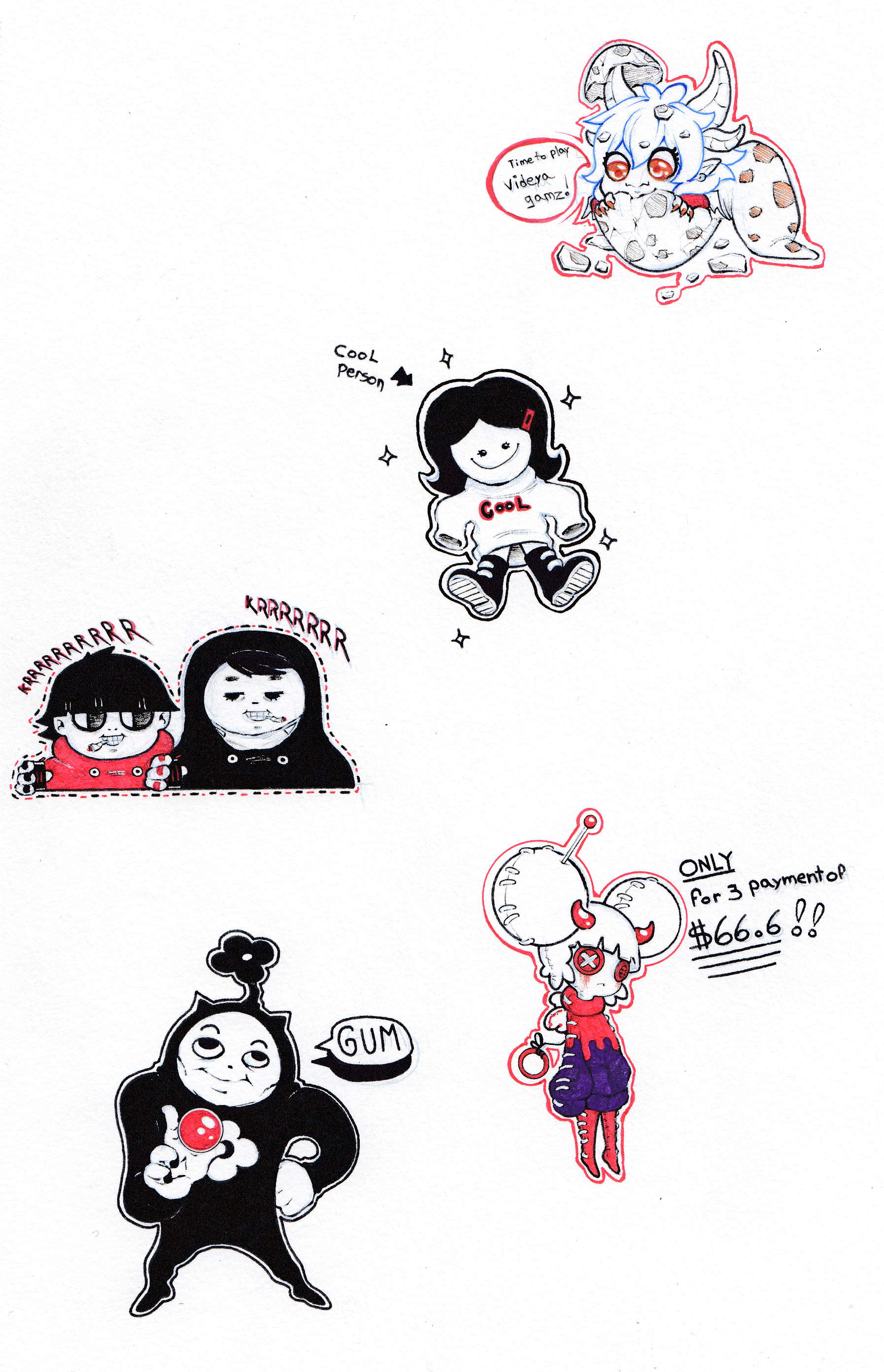 Cool People Doodles