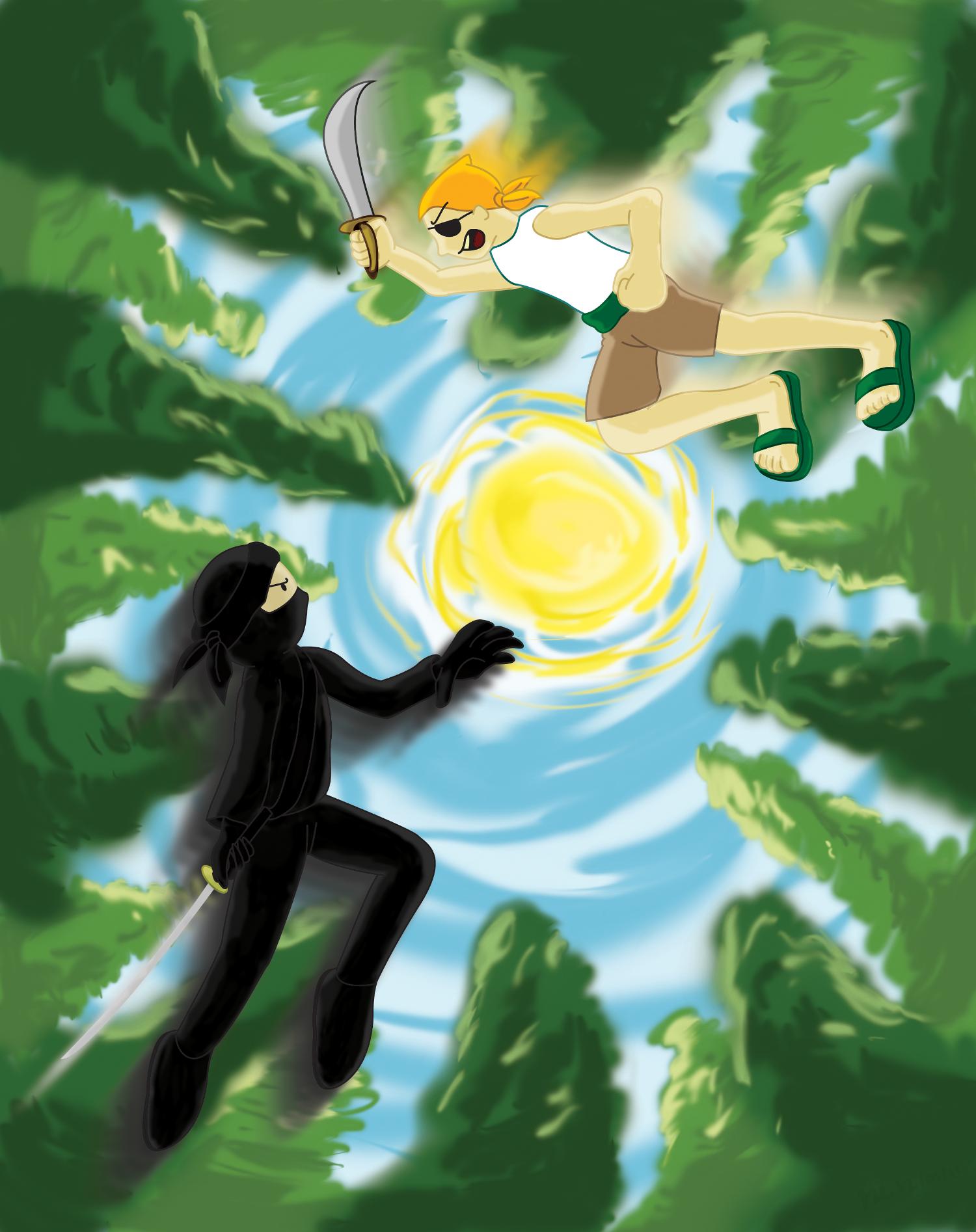 Ninja vs Pirate