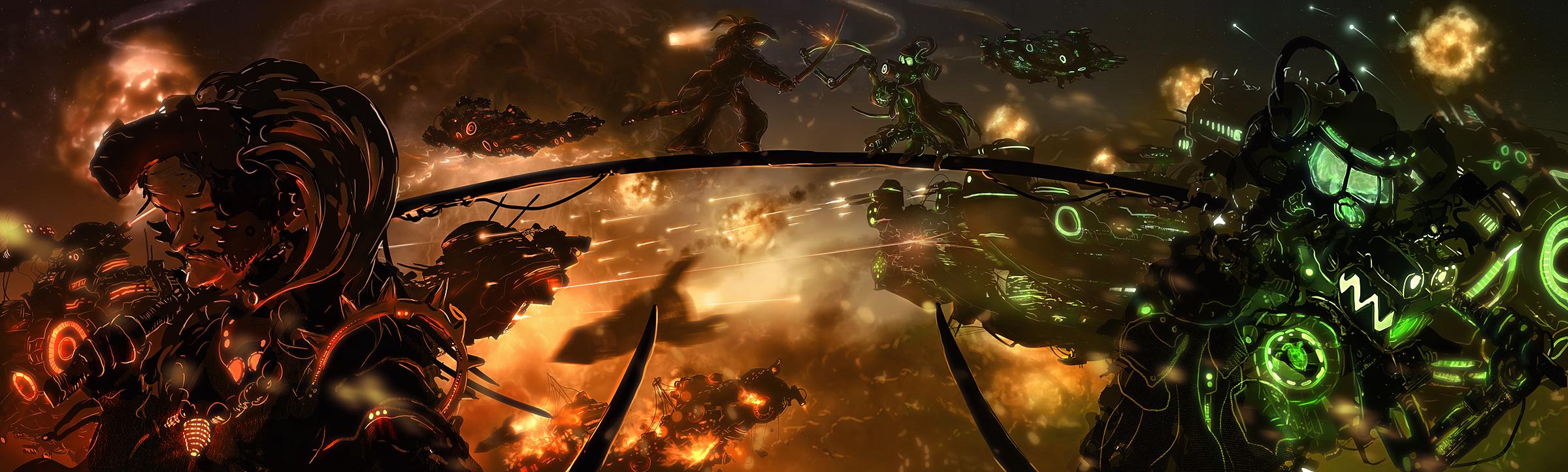Robotarmy vs Samuraicyborgs
