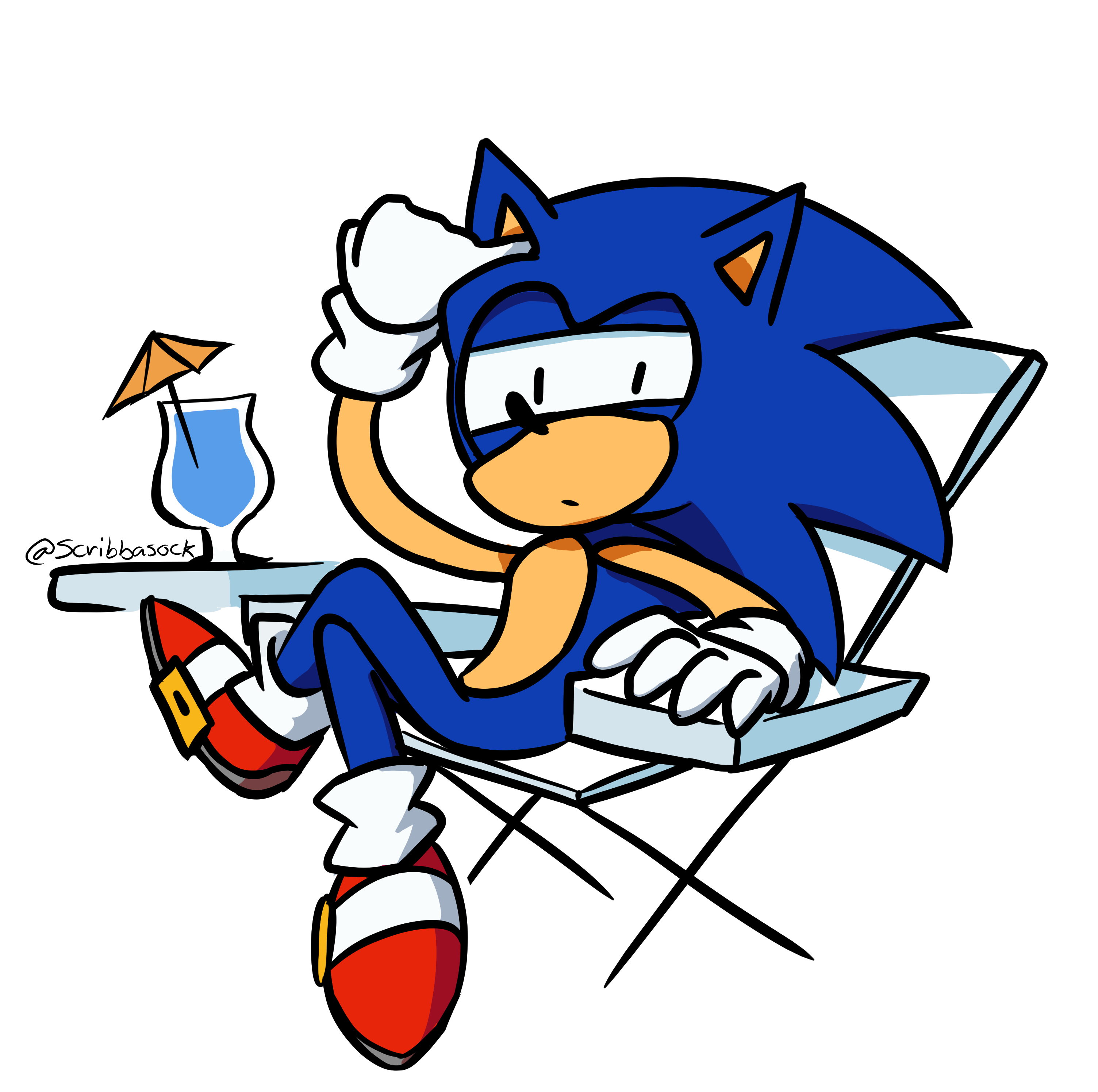 Sonic in a Chair