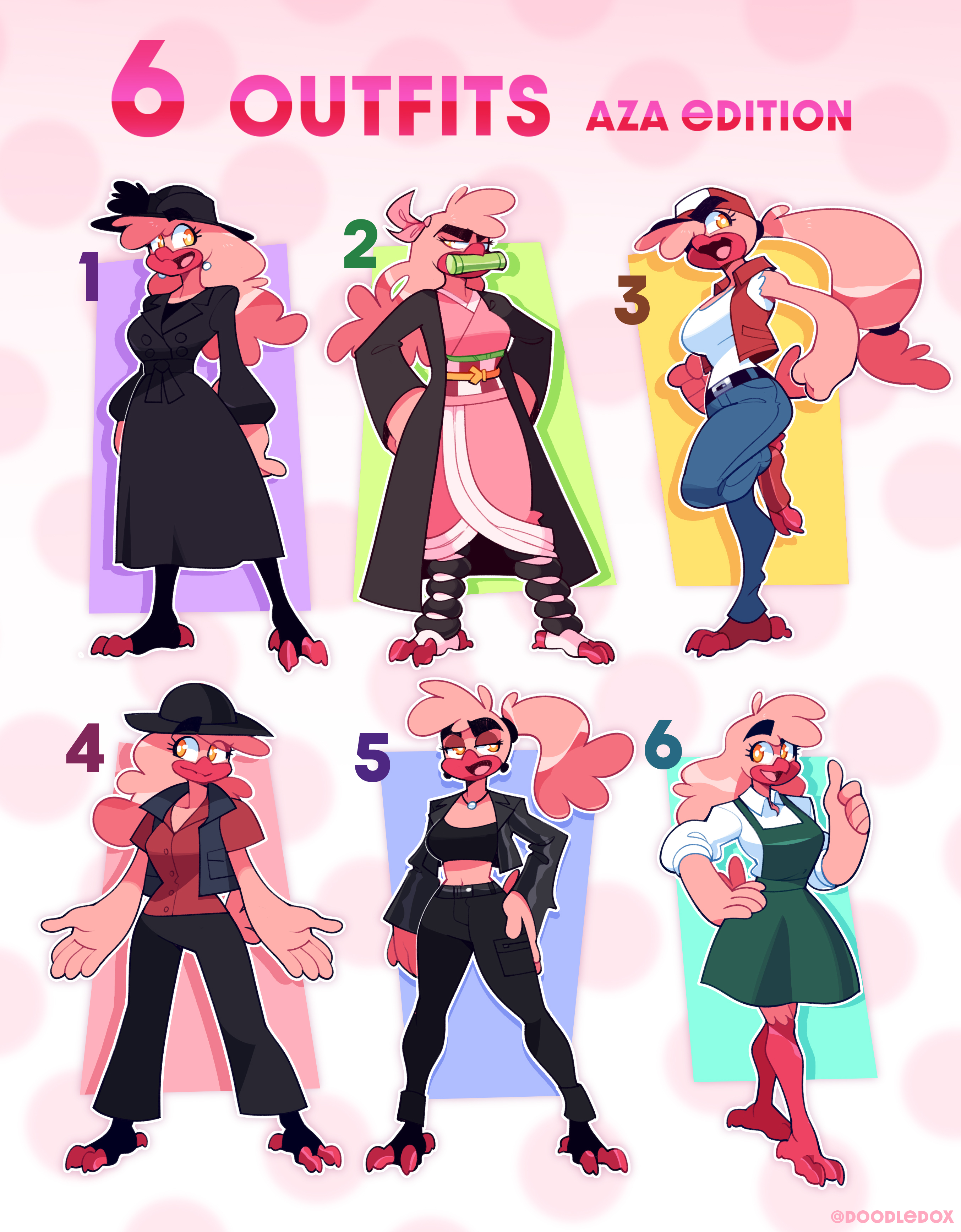 6 Outfits Meme - Aza