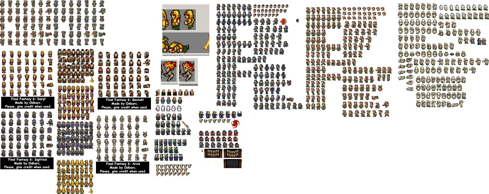 Final Fantasy 6 Custom sprites